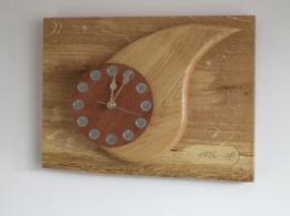 """ONE TEAR"" in oak and mahogany 28cm x 37cm (11x14inch)"