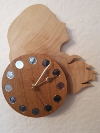 """""""HEAD ONE"""" made in sycamore and oak."""