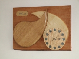 """""""TEARS OF JOY"""" constructed in oak and sycamore 28cm x 37cm (11 x14inch)"""