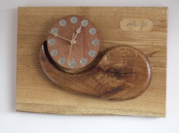 """""""MISSED"""" in oak and mahogany 28cm x40cm (11x16inch)"""