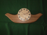 """""""WALL CLOCK TWO"""" made in oak and sycamore"""