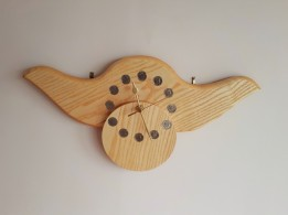 """""""WALL CLOCK"""" Made in Ash, with a unique offset dial."""
