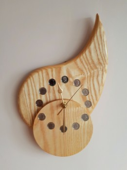 """""""TEAR DROP B"""" Made in Ash, with a unique offset dial."""